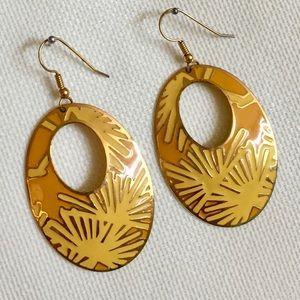 Enamel drop earrings